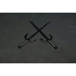 Sai Iron ( Round, BLACK ROPE HANDLES) (Pair)