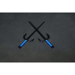 Sai Iron ( Round, BLUE ROPE HANDLES) (Pair)