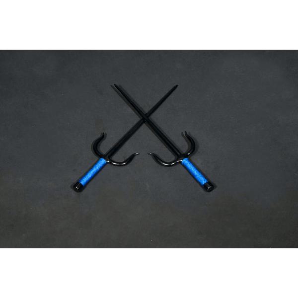 Sai Iron ( Octagonal, BLUE ROPE HANDLES) (Pair)